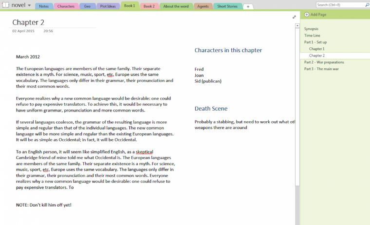 Using Onenote