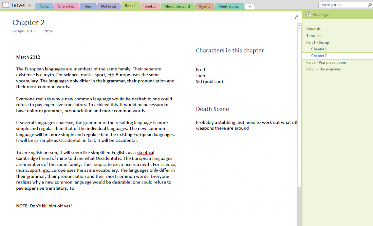 Freedom Writers using OneNote to write a book