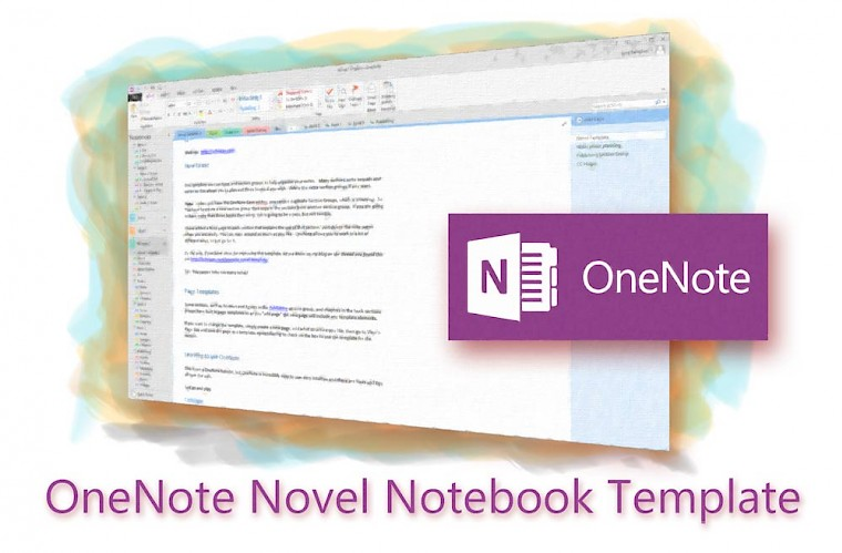 OneNote novel template