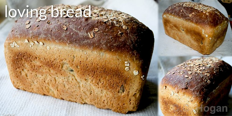 Home made bread with oats