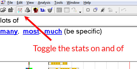 Toggle the stats on and off