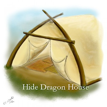 A dragon house made from hides