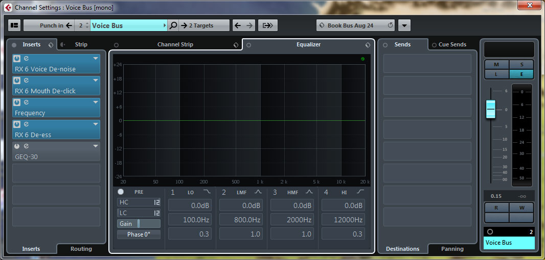 Using iZotope RX 6 for Audiobooks with Cubase