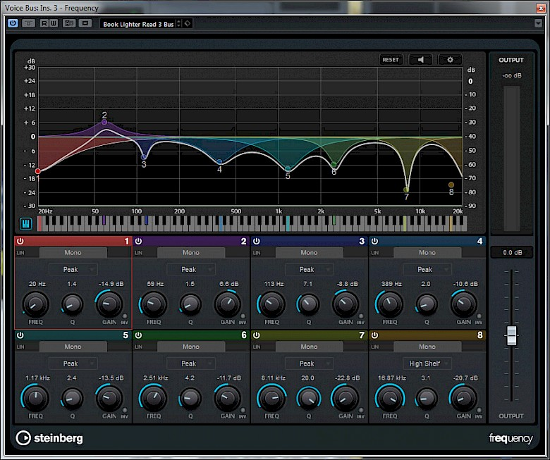 The Cubase Frequency plugin